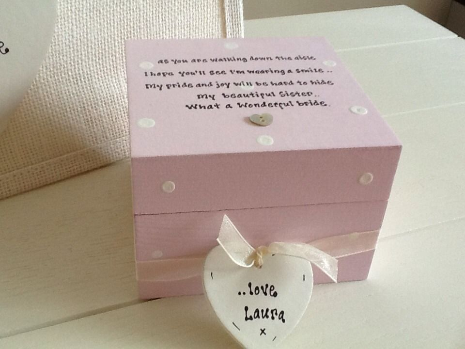 Shabby Personalised Chic Gift Set For Sister Bride On Wedding Day